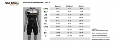 Sizing Chart - Women